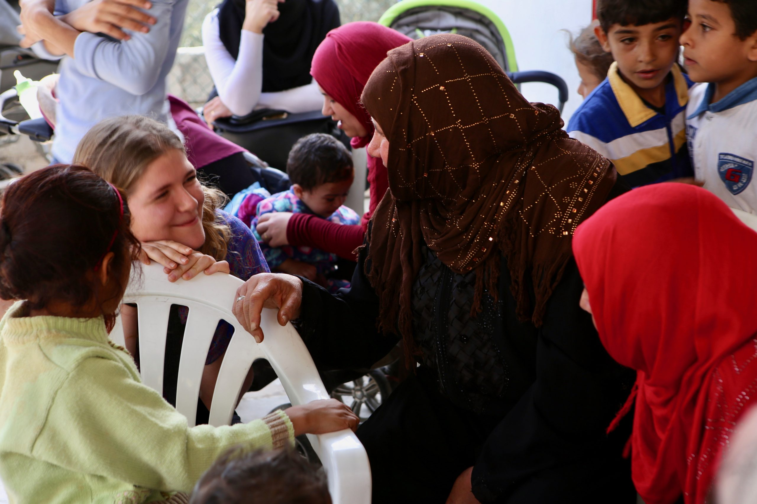 Friendship and help, Syrian Refugees in Lebanon