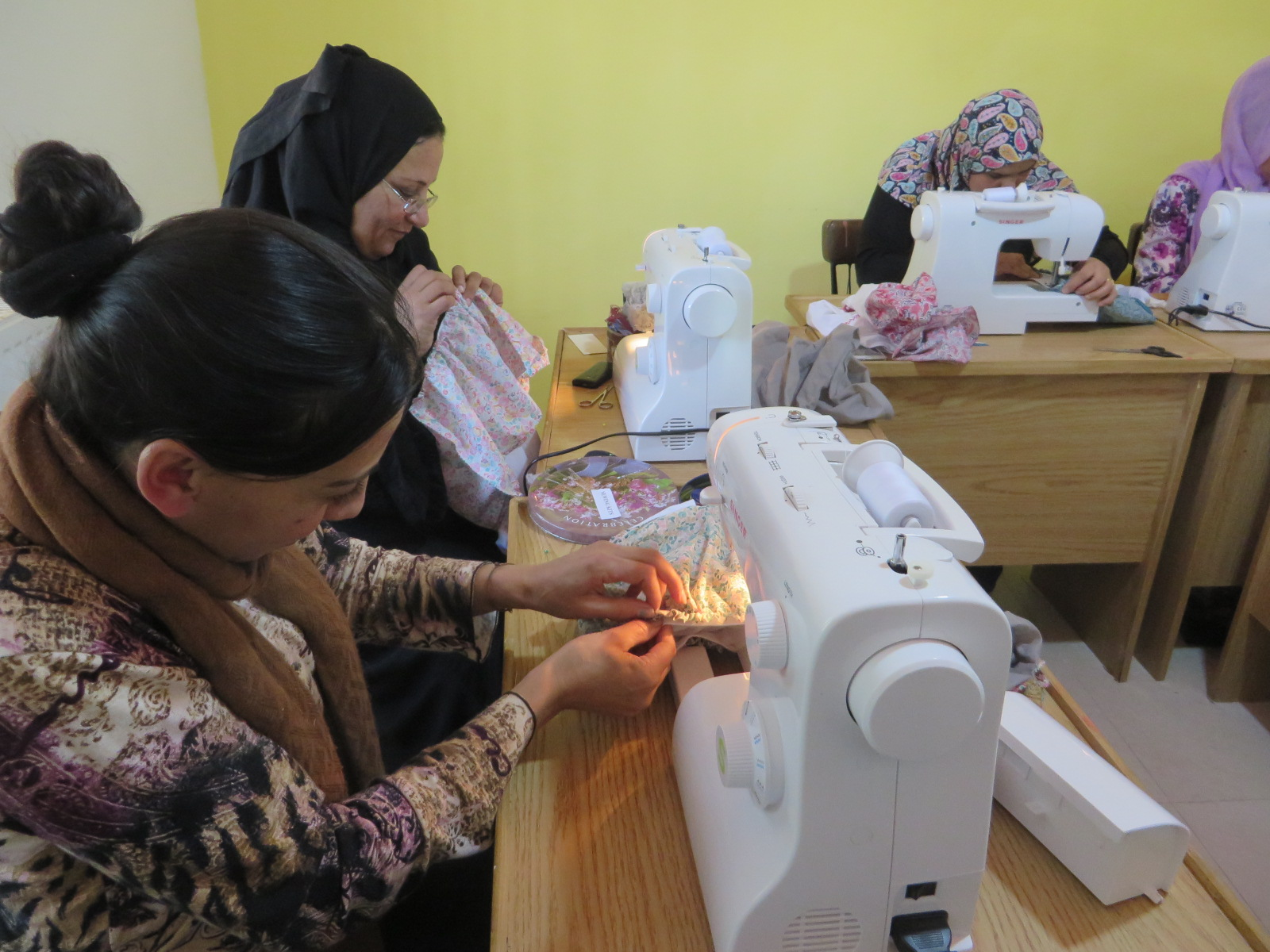 Learning skills is an important part of GHNI's work with refugees